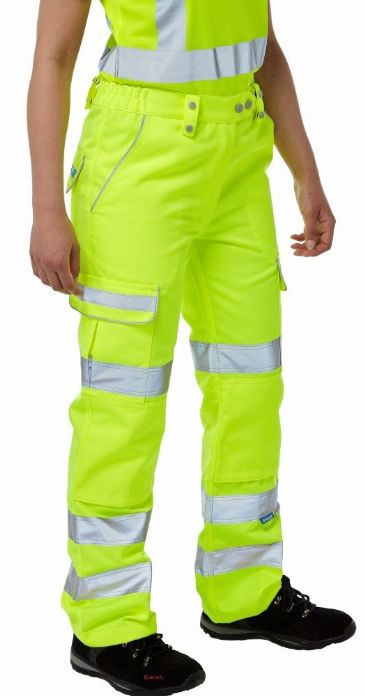 Pulsar P346LDS Class 2 Ladies Combat Trousers (High Vis  Yellow)